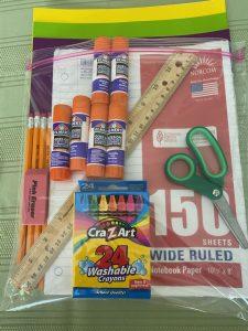Sample Back-to-School Supply Kit